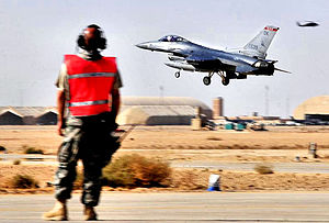 138th Fighter Wing - 125th Expeditionary Fighter Squadron - General Dynamics F-16C Block 42D Fighting Falcon, AF Ser. No. 88-0539. arrives in Iraq on 4 Oct 2011. The squadron deployed in support of Operation New Dawn.