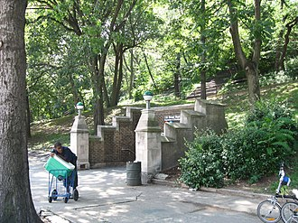 135th Street (IND Eighth Avenue Line) - Entrance in park at 137th Street