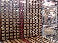 139 mNACTEC, la Fàbrica Tèxtil, ordidor, rodets de fil.jpg