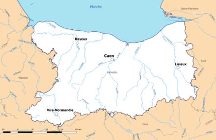 département du calvados carte