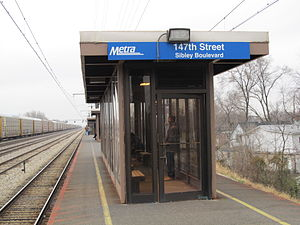 147th Street (Sibley Boulevard) station - Image: 147th Street (Sibley Blvd) Metra Station