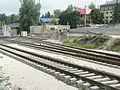 150523 Vörösvár - még áll a sorompó a szintbeli kereszteződés helyén.JPG