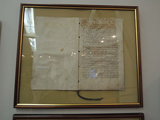 Treaty of Stolbovo - Image: 1617, May 1. Gustav Adolf's ratification of Russia Sweden peace (RGADA)
