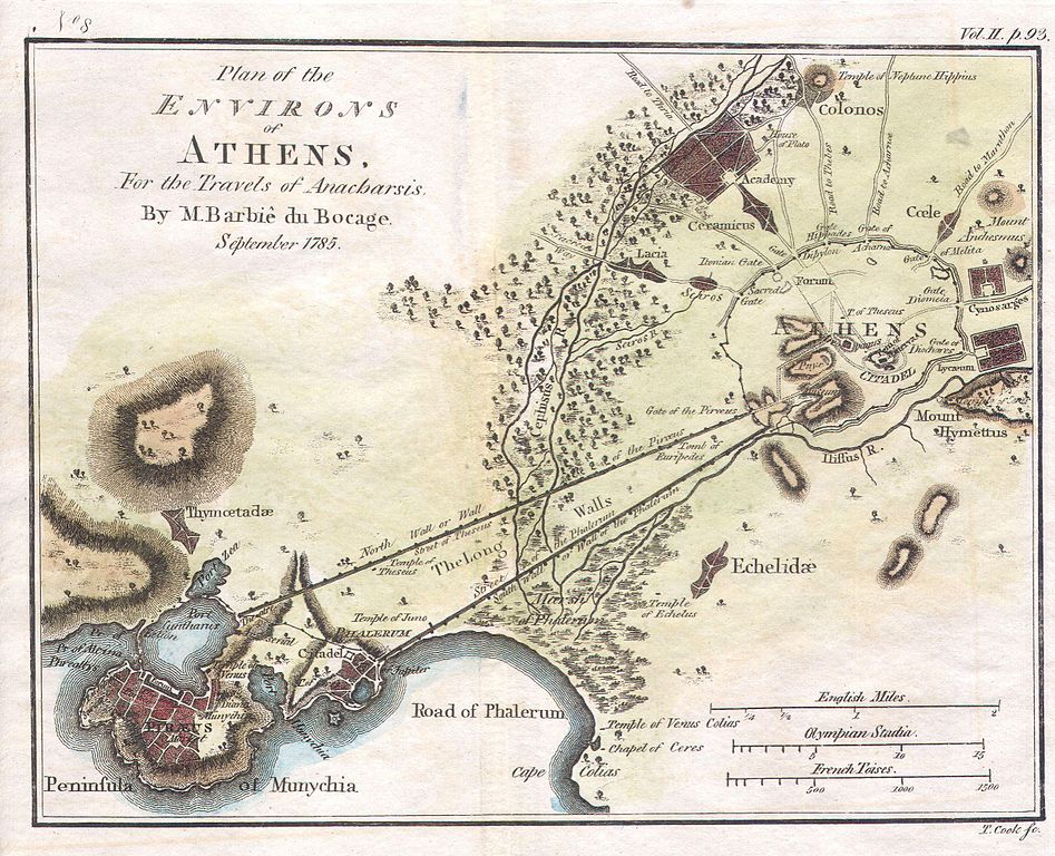 File 1784 Bocage Map Of The City Of Athens In Ancient