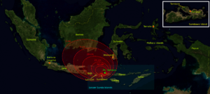 1815 eruption of Mount Tambora - Image: 1815 tambora explosion