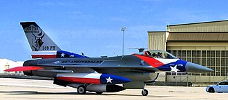 182d Fighter Squadron - 182d Fighter Squadron General Dynamics F-16C Block 30F Fighting Falcon 87-255 returning to Lackland Air Force Base after being painted to honor the 65th anniversary of the 182d Fighter Squadron affiliation with the Texas ANG