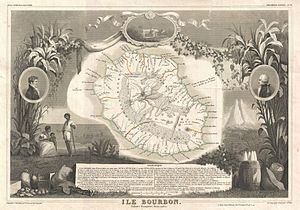 1852 Levasseur Map of the Reunion or the Ile. ...