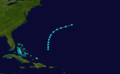 1854 Atlantic tropical storm 5 track.png