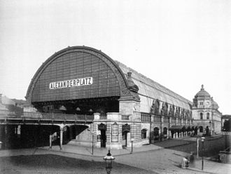 Berlin Alexanderplatz station - Alexanderplatz station, 1885