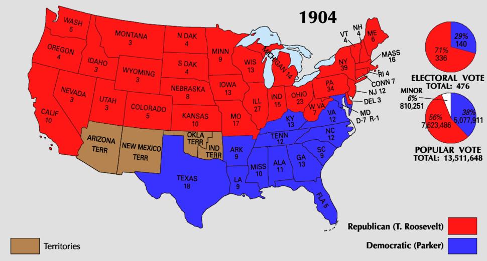 1904 Electoral Map