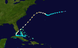 1906 Atlantic hurricane season - Image: 1906 Atlantic hurricane 2 track