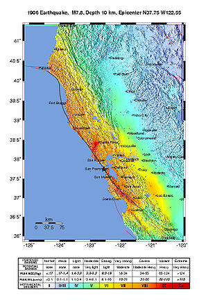 History of California 1900 to present - The intensity of the earthquake