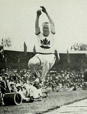 Athletics at the 1912 Summer Olympics – Men's long jump - Silver medalist Calvin Bricker.
