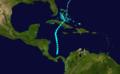 1923 Atlantic tropical storm 4 track.png