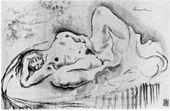 Michel Fingesten, Masturbazione femminile, incisione, 1923
