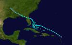 1937 Atlantika tropika ŝtormo 3 track.png