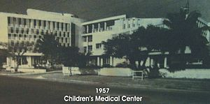 Fe del Mundo - The Children's Medical Center of the Philippines in 1957.