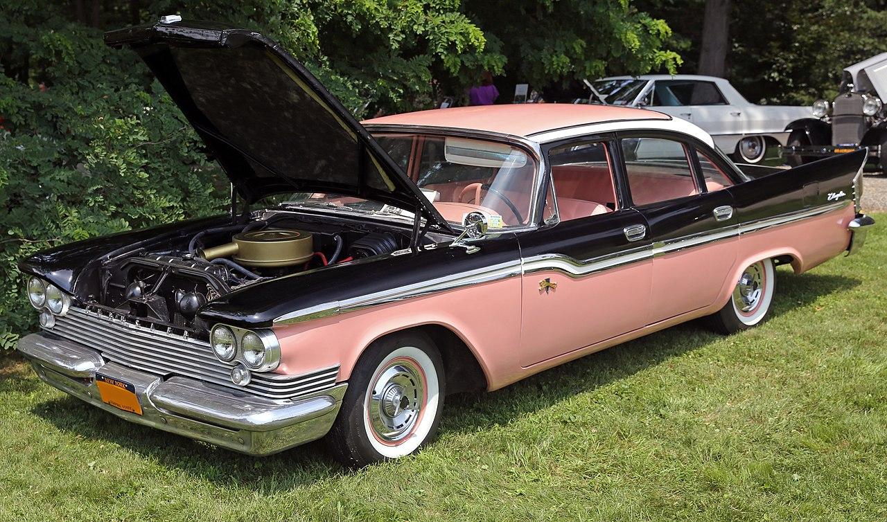 File 1959 Chrysler Windsor 4 Dr Sedan Front Left Pink