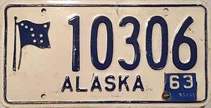 Vehicle registration plates of the United States for 1963