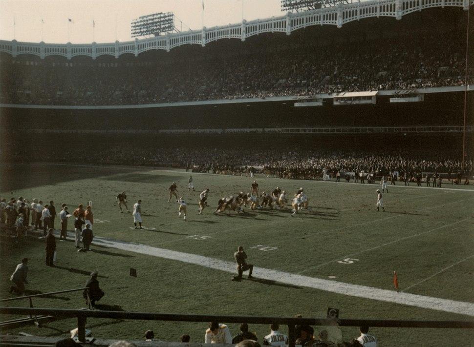 1969 Notre Dame - Army football Yankee Stadium