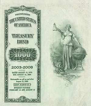 Bond (finance) - Image: 1978 $1000 8 3 8% Treasury Bond (reverse)