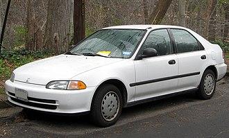 Honda Civic (fifth generation) - Image: 1992 1995 Honda Civic sedan 03 21 2012