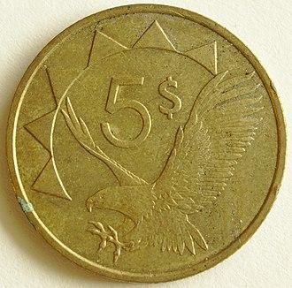 Namibian dollar - Five dollar coin