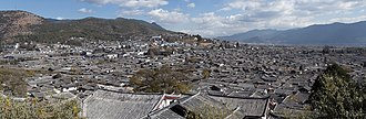 Old Town of Lijiang - Panorama of the old town as seen from Wan Gu Lou