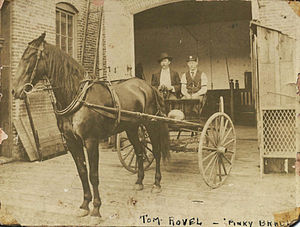 Fire chief's vehicle - 1st Fire Chief of the paid department of Houston firefighters, 1896