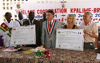 Kpalimé - 20th anniversary of the twinning with Bressuire, July 2011