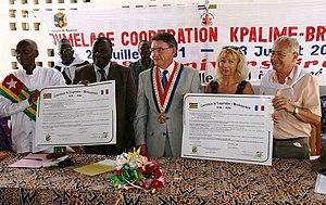 20ème anniversaire de jumelage à Kpalimé Togo (Juillet 2011)