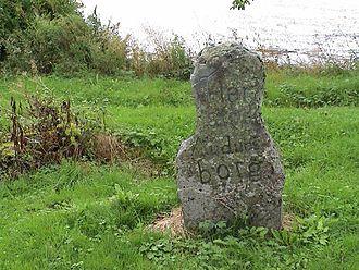 Audunborg - Memorial stone at the former site of Audunborg