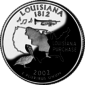 Louisiana quarter dollar coin