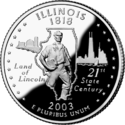 Illinois quarter dollar coin