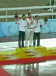 2008 Olympic Modern pentathlon men - medal ceremony.JPG