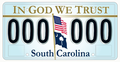 2008 South Carolina license plate In God We Trust 000 000.png
