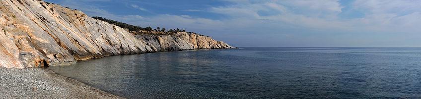 Marmaritsa beach - landscape, Rhodope, Thrace, Greece.