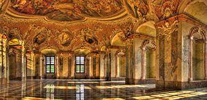 Lubiąż - Image: 2011 04300592 594 596 598 600 Nr Lubiąż klasztor cystersów sala panoramicznie