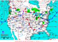 2012-01-15 Surface Weather Map NOAA.png