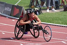 2013 IPC Athletics World Championships - 26072013 - Chelsea McClammer of USA during the Women's 400m - T53 first semifinal.jpg