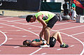2013 IPC Athletics World Championships - 26072013 - Tania Jimenez and Joe Campos of Mexico after the Women's 200m - T11 second semifinal.jpg