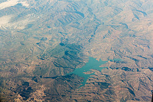 Taounate - Barrage Sahla and Taounate - Air photo (2014)