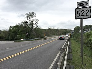 U.S. Route 522 in Maryland - View north along US 522 in Hancock