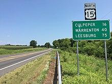 U S  Route 15 in Virginia - Wikipedia