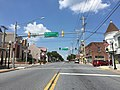 2016-08-20 13 27 47 View north along Maryland State Route 30 (Main Street) at Westminster Street and York Street in Manchester, Carroll County, Maryland.jpg