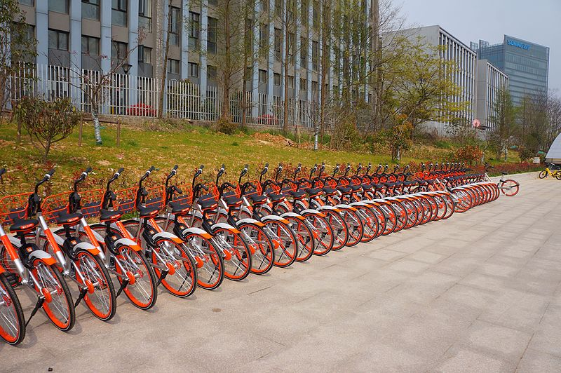 File:201704 Mobikes in Xuzhuang.jpg
