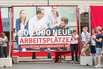 2017 Austrian legislative election - Election poster from the SPÖ