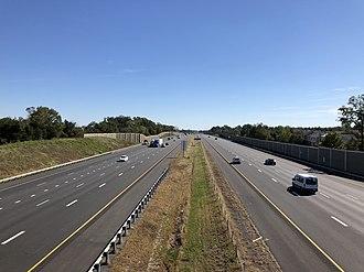 Haymarket, Virginia - View east along I-66 in Haymarket
