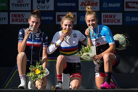 20180927 UCI Road World Championships Innsbruck Women Juniors Road Race Award Ceremony 850 0388.jpg