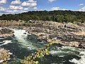 2019-09-07 15 12 35 View northeast towards the Great Falls of the Potomac River from Overlook 1 about 100 feet downstream of the falls within Great Falls Park in Great Falls, Fairfax County, Virginia.jpg